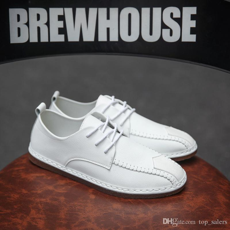 047 Summer breathable one foot pedals lazy person board tide shoe canvas man bean shoe man recreational cloth shoe