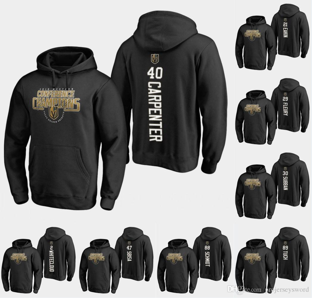 2019 Ryan Carpenter Hoodie 29 Marc Andre Fleury 21 Cody Eakin 8 Nate  Schmidt 89 Alex Tuch Personalized Custom Hockey Sweatershirt Jerseys From  ... b3aed94ab