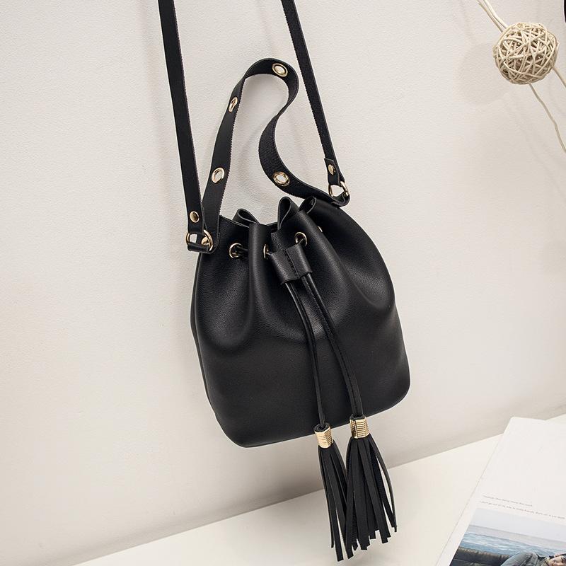 5c04ccaa Mini Fringe String Bucket Bag For Women Simple Style Small Pu Leather  Shoulder Crossbody Bags Fashion Tassel Handbags And Purses Man Bags  Crossbody Purses ...