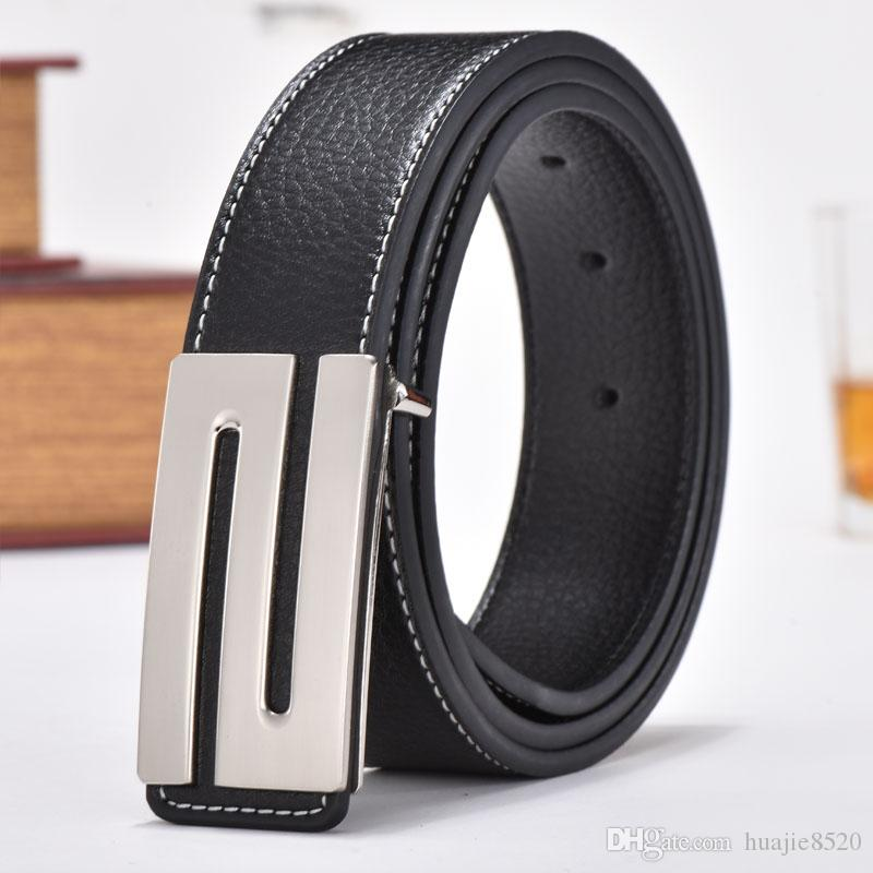 NEW Classic high quality Men's Luxury Belt Fashion S Letter Smooth Buckle Luxury Designer Men's Top Belt