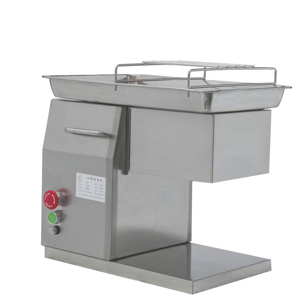 250kg/h Commercial Desktop Electric Small Fresh Meat Cutting Machine For  Home Hotel Restaurant Supermarket Butcher
