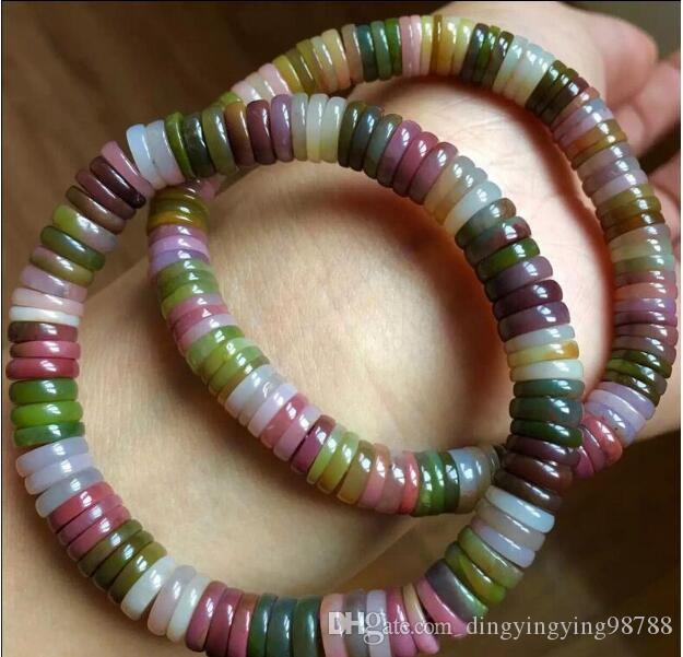 FREE SHIPPING + ++++1pc Colorful natural bracelets Yanyuan disc beads across the pearl beads Bracelets