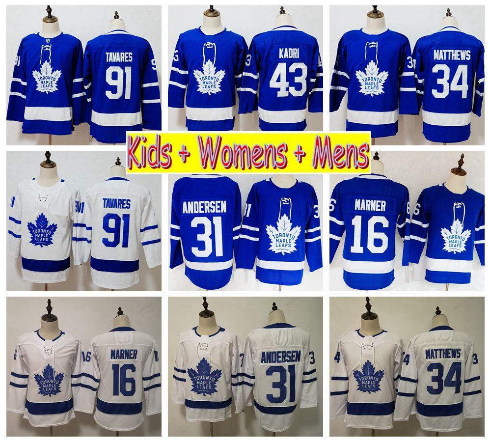 the best attitude 59203 e8214 2019 Kids Toronto Maple Leafs Youth Hockey Jerseys 34 Auston Matthews 16  Mitchell Marner 91 John Tavares 43 Nazem Kadri Womens Mens Shirts