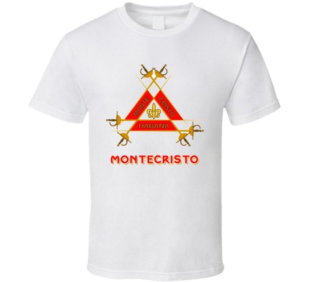05274463d0 Monte Cristo Cuban Cigar Logo Classic T Shirt Funny Unisex Tshirt Top Funny  Tee Shirts Mens T Shirt From Cheapasstees, $12.96  DHgate.Com