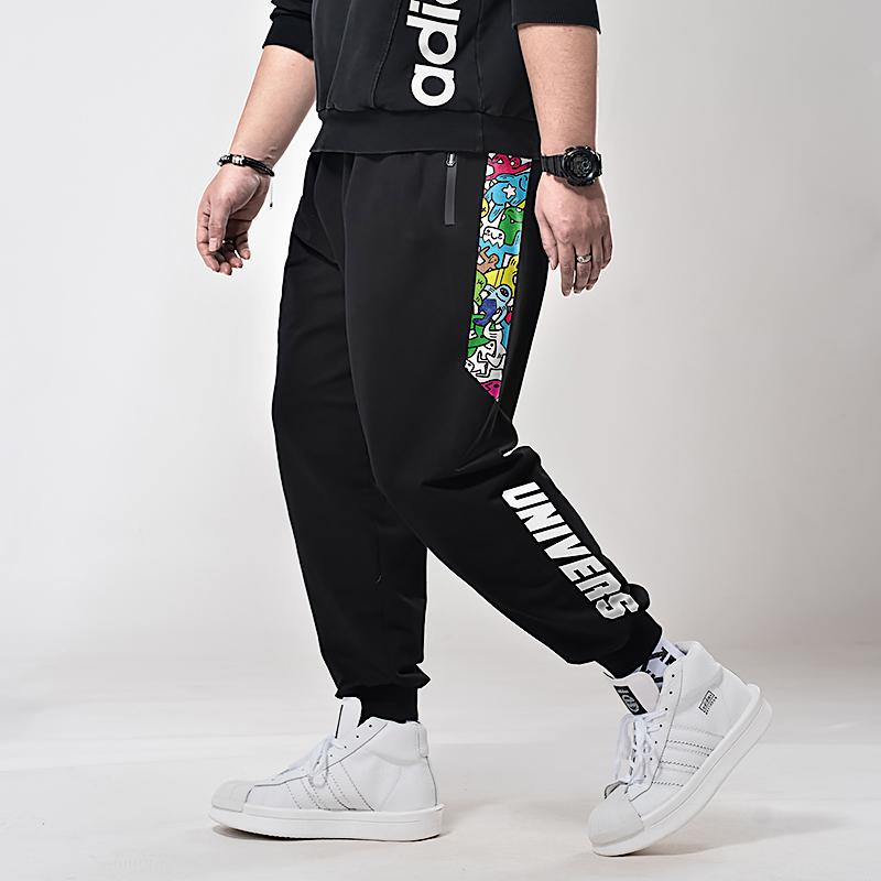 8f93dbcfb699 2019 2019 Plus Size Big Spring Men Fashion Printed Stretchy Trousers Jogger  Sweatpants Harem Casual Pants Athleisure Relaxed Fit Unis From Layette66
