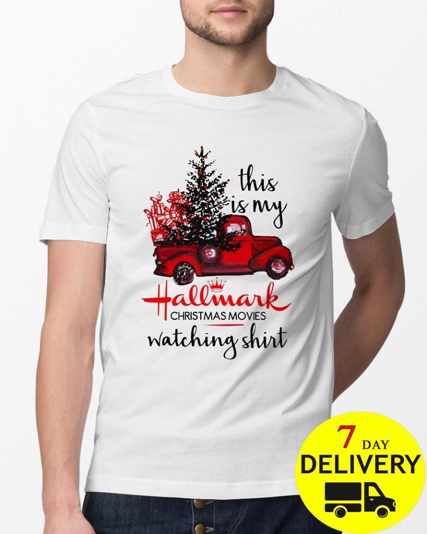 cd3d23dded17 This Is My Hallmark Christmas Movies Watching T Shirt Black Size S ...