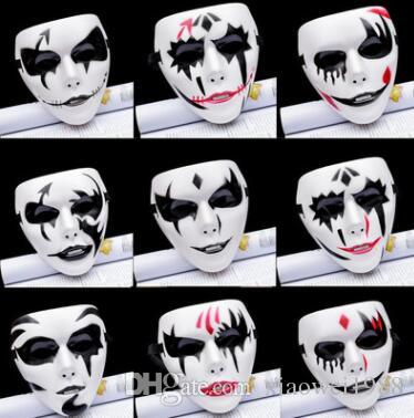 Halloween masks for ghost-step dances, hip-hop dances, masks, horrible faces of clowns, adult hand-painted masks, gods of death