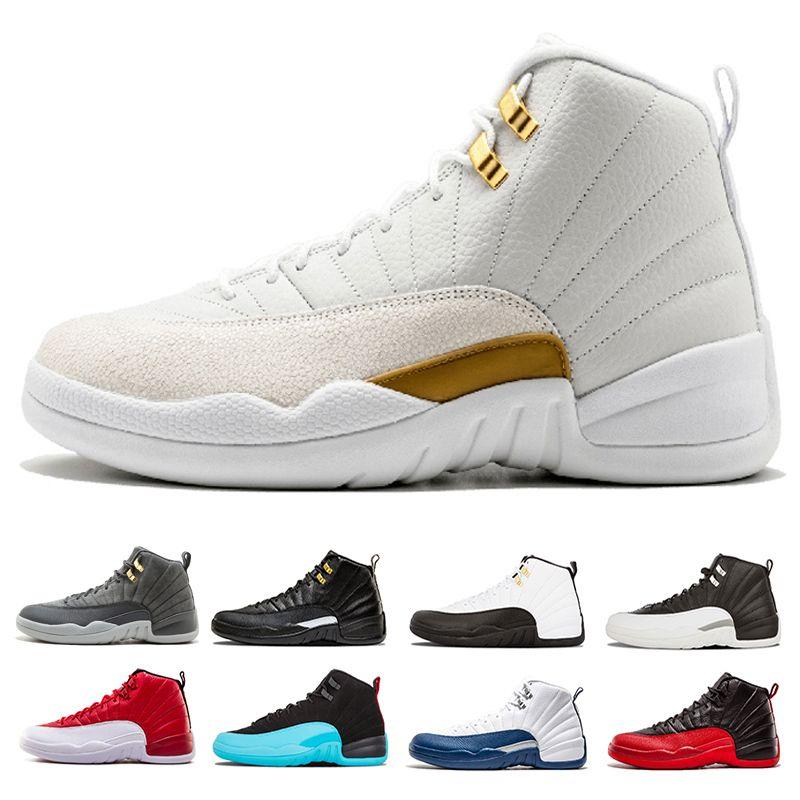 27d96968dd5a1 GOOD ZAPATILLAS 12 Premium Deep Royal Blue Suede 12s Black Basketball Shoes  Men Sports Shoes Sneakers Man Trainer Size7 13 Mens Basketball Shoes Men ...