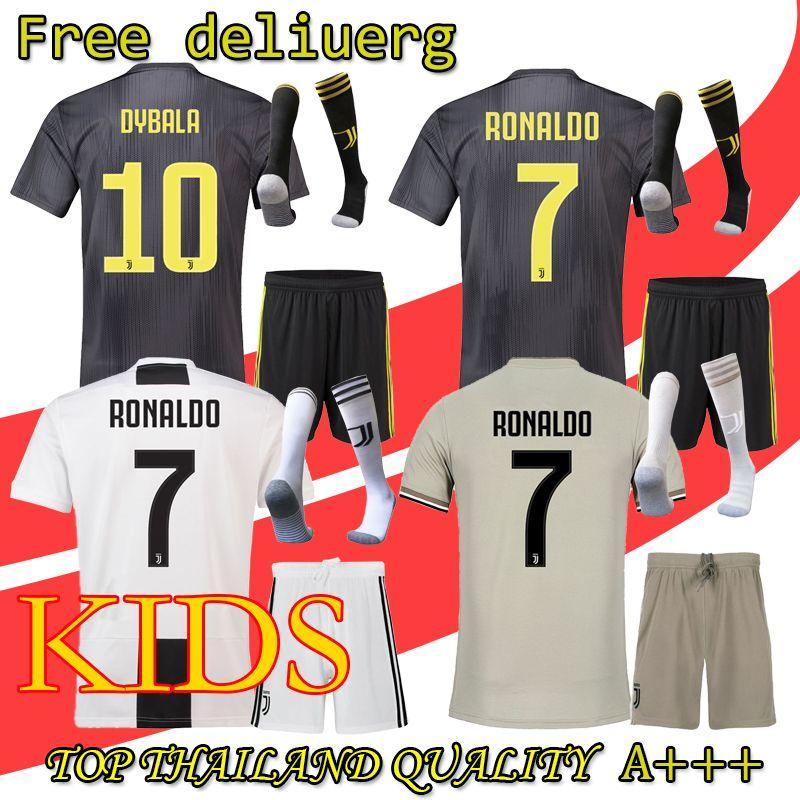 f877b446a8c 2019 18 19 RONALDO JUVENTUS DYBALA HIGUAIN Kids Kit Soccer Jersey 2018 19 Juve  MARCHISIO MANDZUKIC CHIELLINI BUFFON Child Football Shirt Uniform From  Aq0511 ...