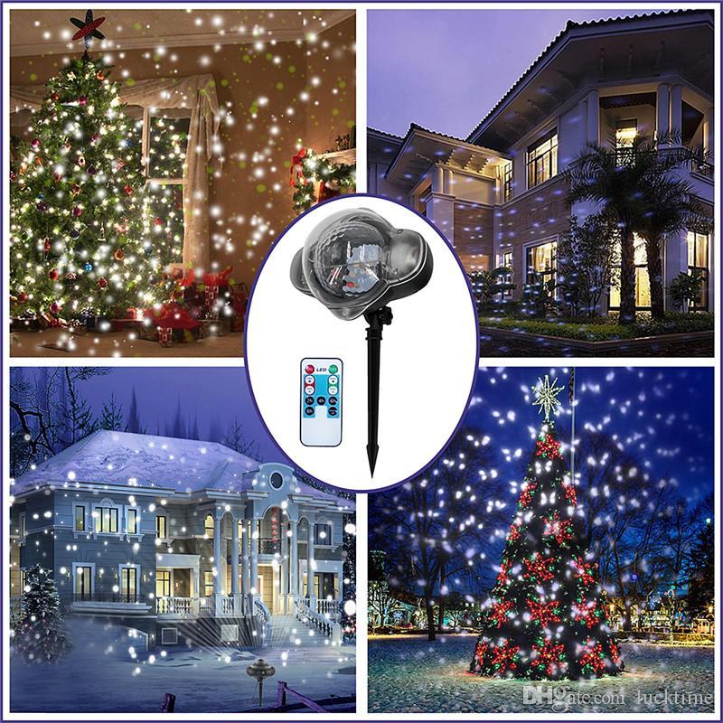 23e013056b0 Compre Interior Móvil Nevadas Proyector Nieve Jardín Exterior Proyector  Láser Lámpara Navidad Copo De Nieve Luz Láser Para Fiesta De Año Nuevo  Festival A ...