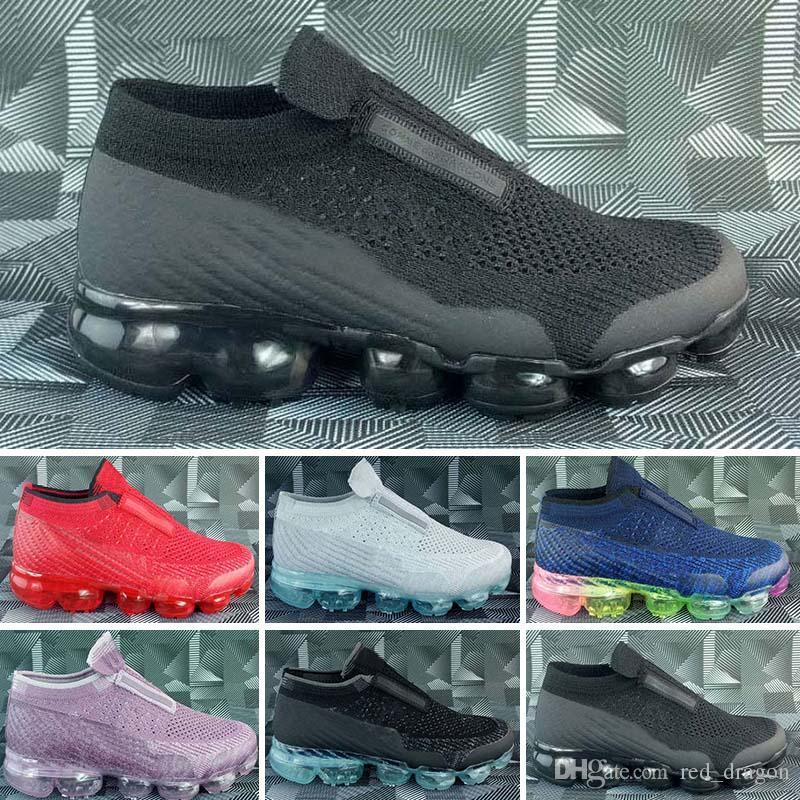 Nike air max Sin cordones VM 2018 Platinum para niños zapatillas de deporte gris blanco del arco iris infantil entrenador Zapatos de niños marca