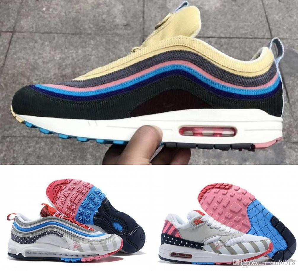 on sale efa32 b3d54 2019 2019 Piet Parra Running Shoes X Men Maxes 1 Zoom Spiridon White Multi  Rainbow Sean Wotherspoon 97 Sports Sneakers Outdoor Trainers 36 45 From  Carl0018, ...
