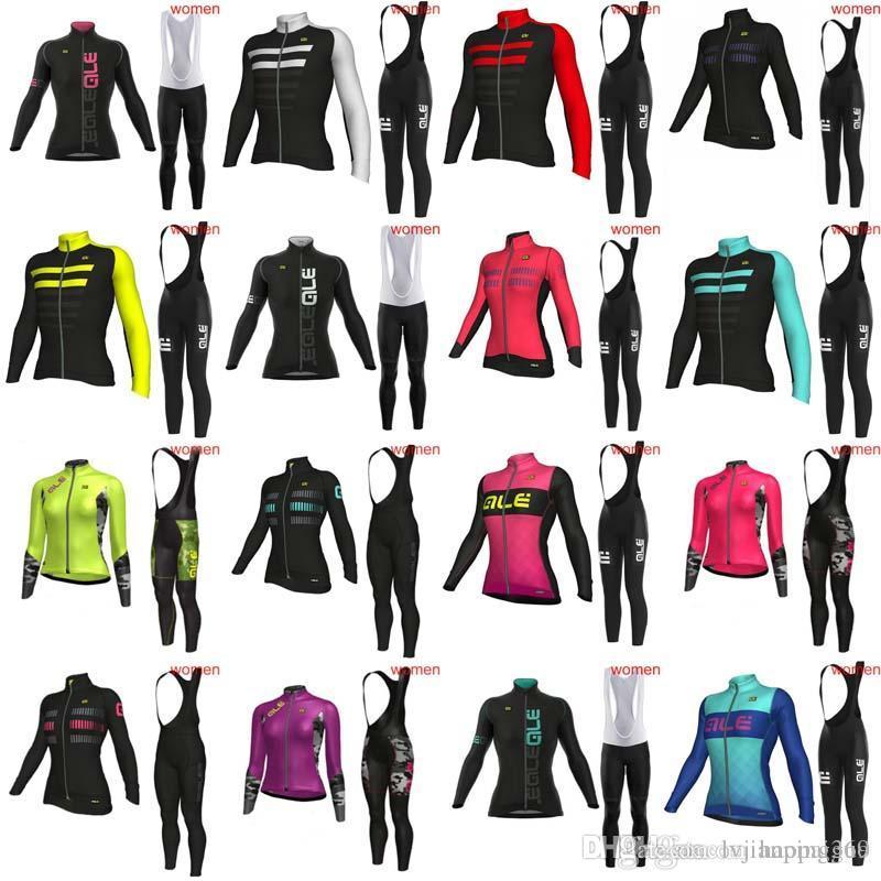 ALE Women Pro Team 2018 Spring Autumn Cycling Jerseys Bike Clothes Long  Sleeves Bib Pants Sets MTB Bicycle Clothing Accept Mix Size 1021L Cycling  Leggings ... ec2b8d143