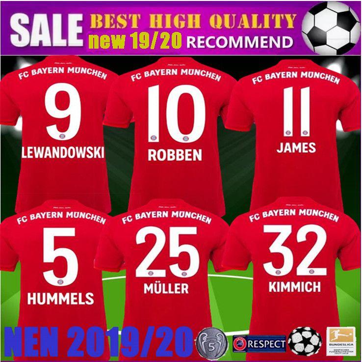 2868d66ff99 2019 Champions League 2019 Men Women Bayern Munich Soccer Jersey 2020  LEWANDOWSKI MULLER KIMMICH Jersey 18 19 20 HUMMELS RODRIGUEZ Football Shirt  From ...