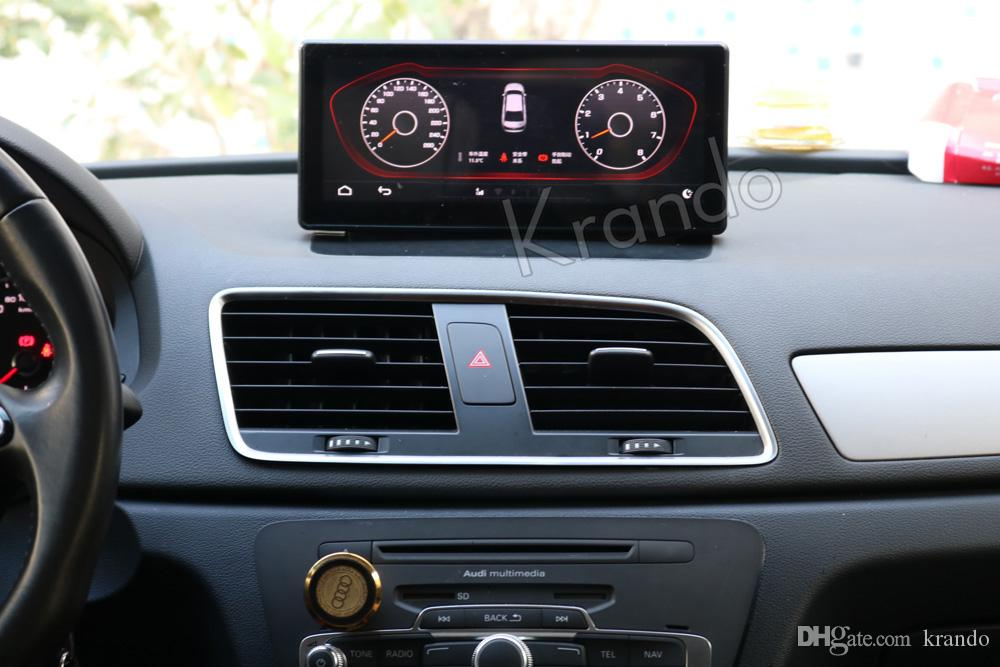 Krando Android 8 1 10 25'' car dvd radio navigation for Audi Q3 multimedia  player with bluetooth