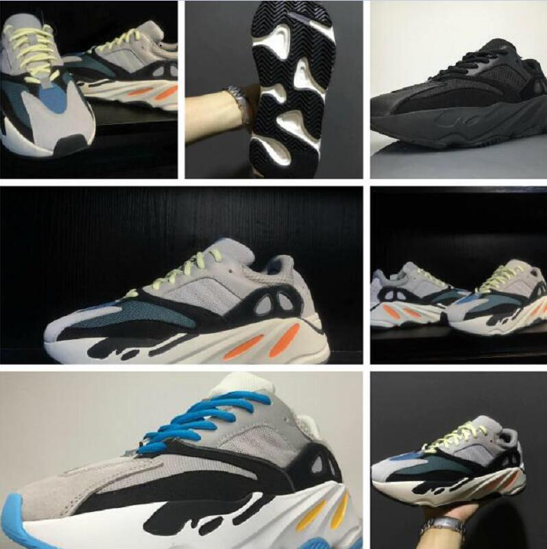 ef008598e9e80 Discount Kanye West Boost Retro Wave Runner 700 Running Shoes Grey Causal  Shoes Boost Mens Women Solid Grey Chalk White Core Sneakers Slip On Shoes  Formal ...