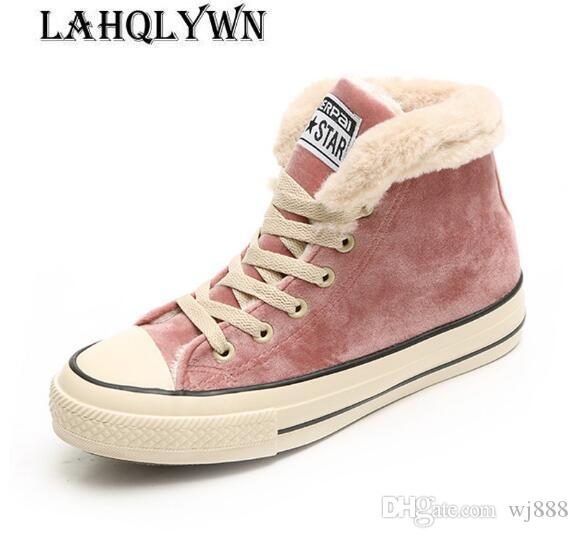 8a0b4f6aed45 Snow Boots Hot Sale New Women Pu 2019 Winter Boots Sweet Plus Velvet ...