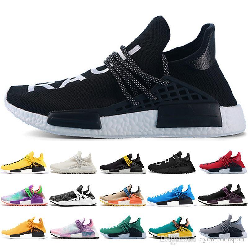 59f1dbc03d2ce 2019 2019 Luxury Human Race NMD Runing Shoes Men Women Solar Pack Black  Yellow PW HU HOLI Pharrell Williams Designer Sport Sneakers From  Qyoutdoorsport