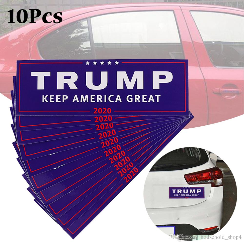 2019 stickers donald trump for president 2020 bumper car body sticker keep make america great decal car styling fashion adhesive from household shop4