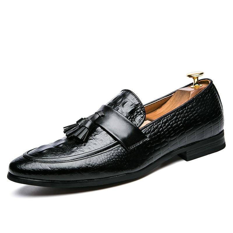 Formal Cuero Borla Zapatos Hombre Compre 2018 Para Italiano De qvOZYBxw8