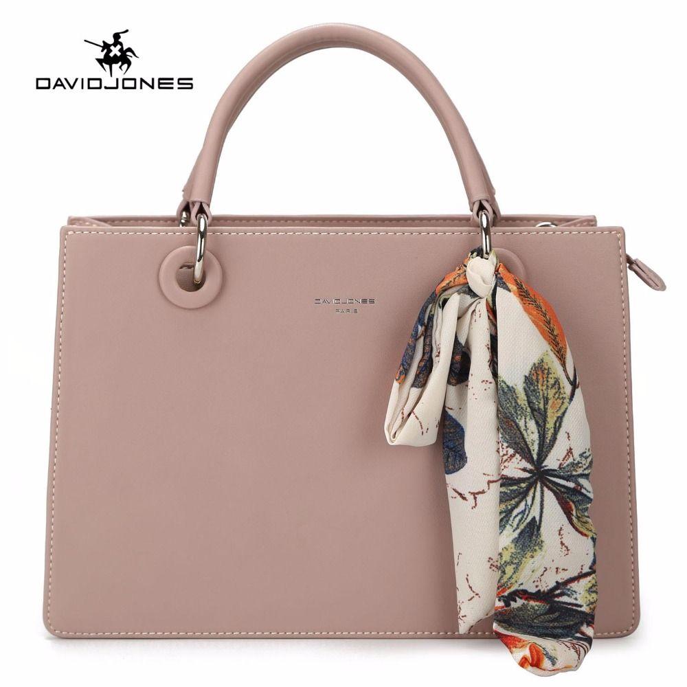 ef2d918d2b6f DAVIDJONES Women Handbag Faux Leather Female Messenger Bags Large Lady  Scarve Tote Bag Girl Brand Shoulder Bag Drop Shipping Handbags For Women  Leather ...