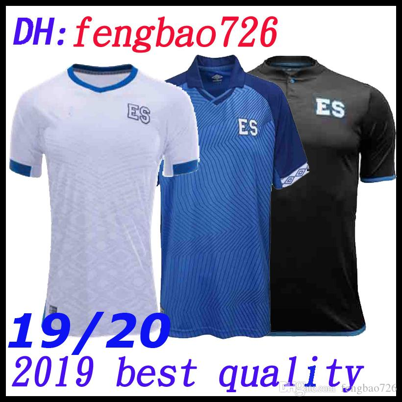 half off ac1d9 332ef 2019 2020 top thai El Salvador home away PJANIC Soccer Jersey 19 20  Federación Salvadoreña de Fútbol black white Soccer Shirt customized