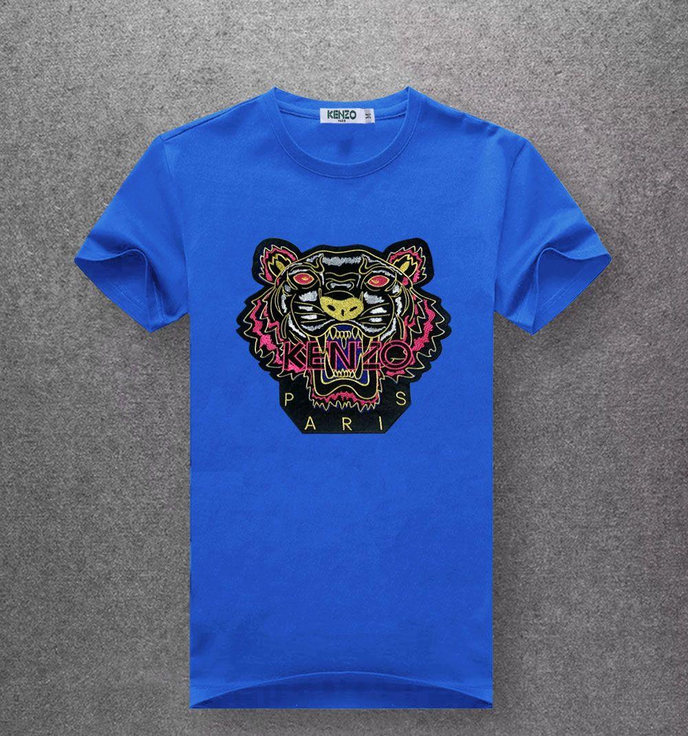be73cf8d19 gg 2019 vere religioni Summer Designers guc Magliette per uomo Top Tiger  Head Lettera ricamo T Shirt Abbigliamento uomo Marche manica corta