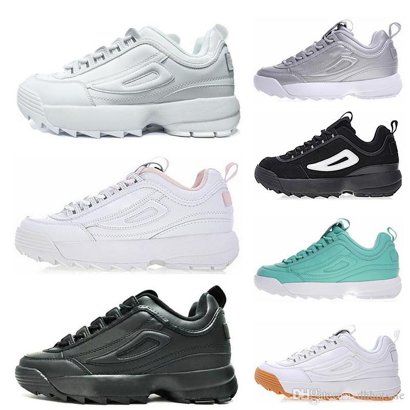 55a9453d Compre Fila Disruptors II Zapatillas De Deporte Limitadas En Blanco, Negro,  Gris Y Dorado II 2 S Mujeres, Hombres, Sección Especial, Zapatillas De  Deporte, ...