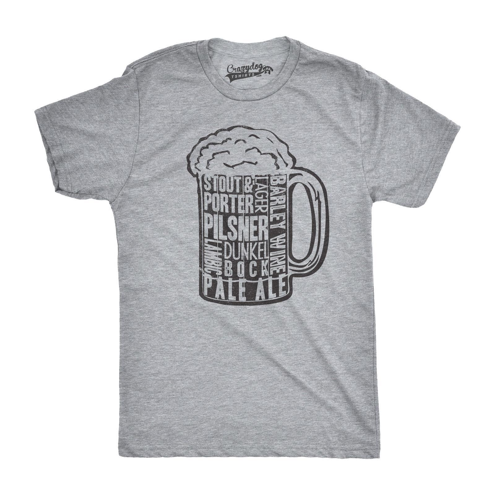 Compre Tipos De Cerveja Dos Homens Na Caneca Engraçado T Camisas Beber  Novidade Do Vintage T T Divertido Hilariante Engraçado 100% Algodão Camiseta  RETRO ... 70b11a129dc