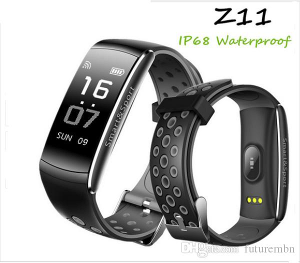 Z11 IP68 Waterproof Smartband Watch Blood Pressure Heart Rate Monitor Smart Bracelet Fitness Tracker Bluetooth Wristband pk Q8 S2
