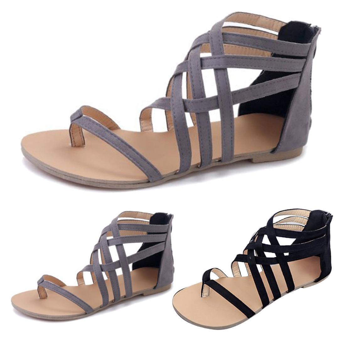 7b5c32b93 2019 Summer Women Sandals Fashion Gladiator Sandals Summer Shoes Female  Flat Rome Style Cross Tied Shoes Ladies Footwear Fashion Shoes From  Caspink, ...