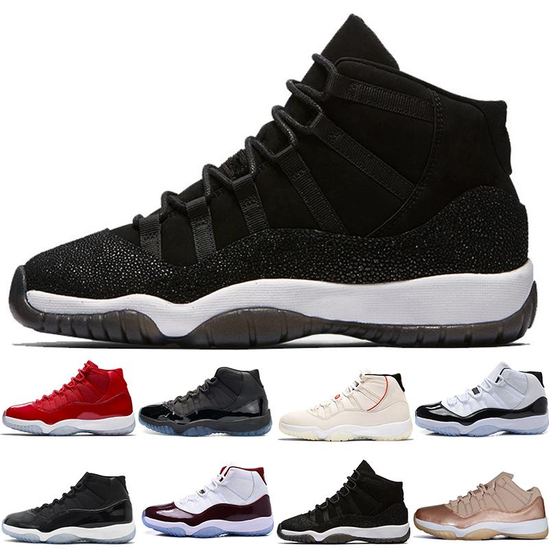 5459c11cc8bb 11 11s Mens Basketball Shoes Concord 45 Platinum Tint Prom Night Gym Red 11  XI Bred Womens Trainers Sports Sneakers Designer Size 36 47 Shaq Shoes Kd  ...