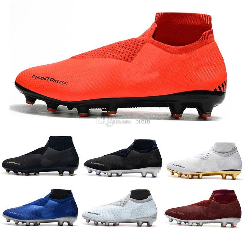huge selection of 68ed1 14755 2019 New mens soccer cleats Phantom VSN Elite DF FG AG outdoor soccer shoes  x EA Sports Phantom Vision football kids scarpe calcio hot