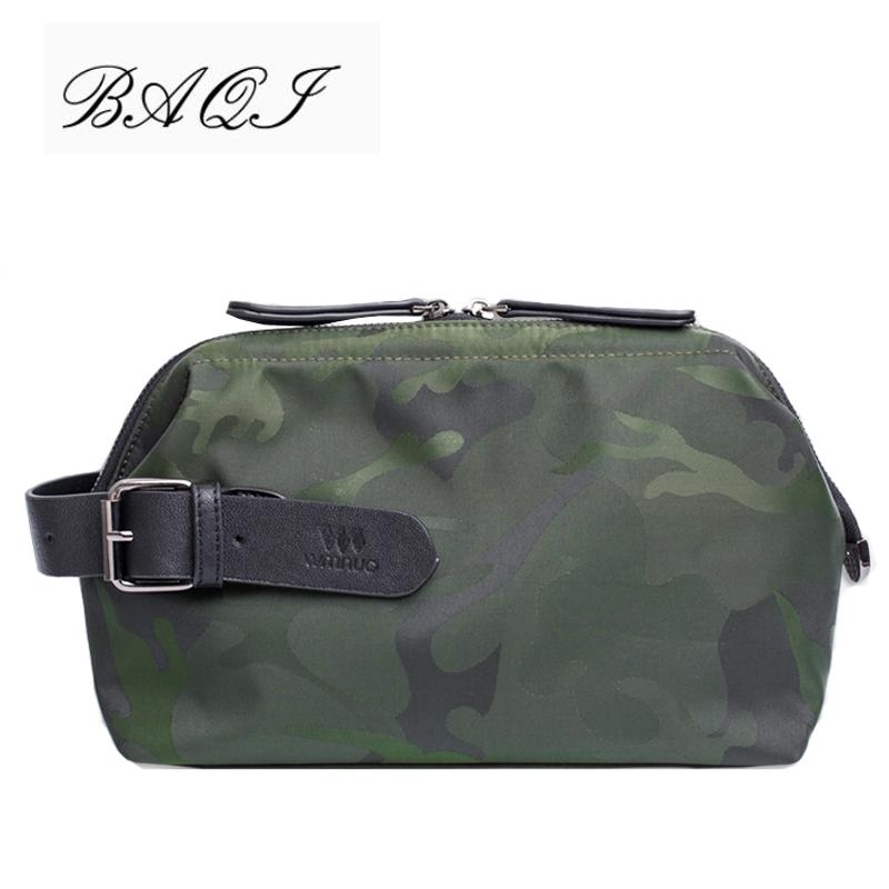 BAQI Brand Men Clutch Wallet Hombres Bolsos Oxford Cloth Waterproof Camouflage 2018 Fashion Casual Bag Designer Ipad Phone Bag