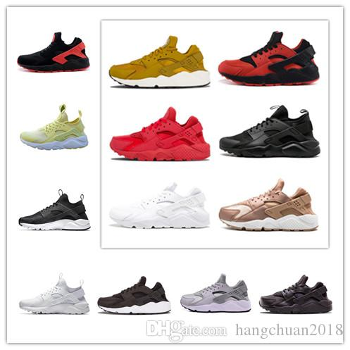 d03812412922 2019 Triple White Black Huarache 4.0 1.0 Running Shoes Classical Red Rose  Gold Men Women Huarache Shoes Huaraches Trainer Sports Sneakers Athletic  Shoes ...