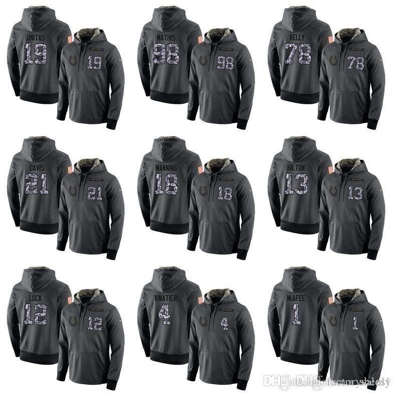 separation shoes 352cc cca87 NEW 2019 Top Quality Hoodies Colts Sweatshirt Mens Stitched admiral Hoodie  Hot Sale 100% Cotton