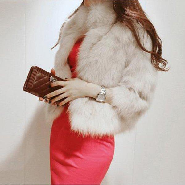 165d5fe27f3c Korean Womens Faux Fur Coats 2019 New Fashion Luxury Quality ...