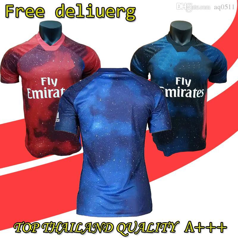 2019 Real Madrid Edición Limitada Camiseta De Fútbol Azul Jersey RAMOS  MODRIC MARCELO ASENSI ISCO Rojo EA Versión Especial Uniforme De Fútbol Por  Aq0511 e664f719c91a7