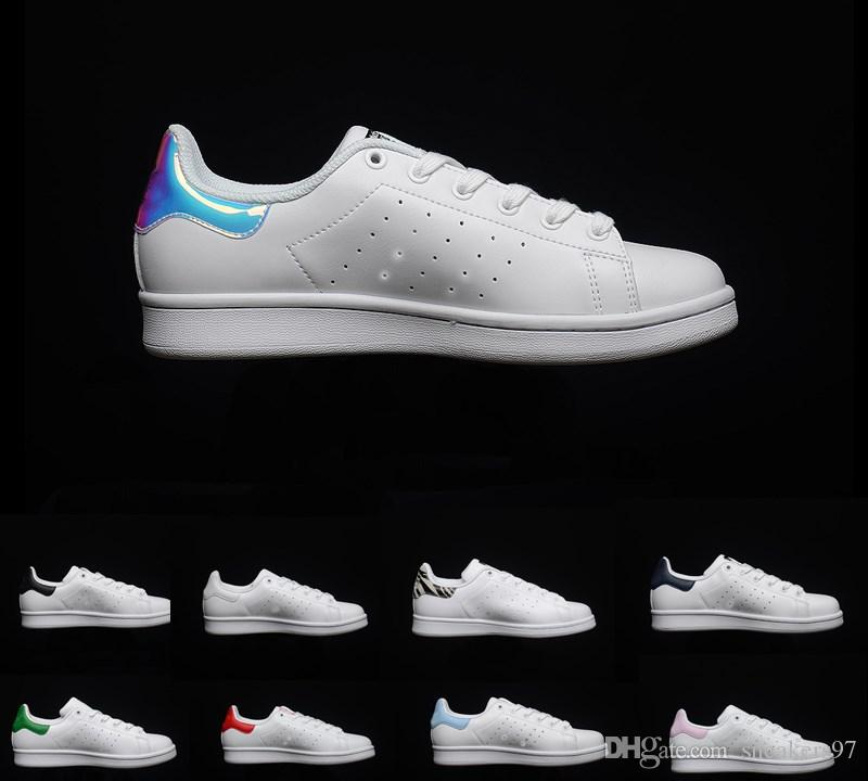 2019 New stan outdoor shoes fashion smith High quality men women classic flats new casual leather sports sneakers shoes size 36 44