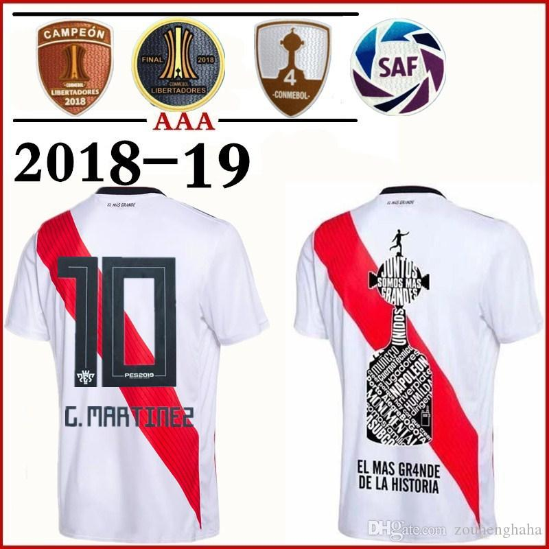 9f45cb7ced9 River Plate Soccer Jersey PES2019 Fonts 2018 2019 Home MARTINEZ ...