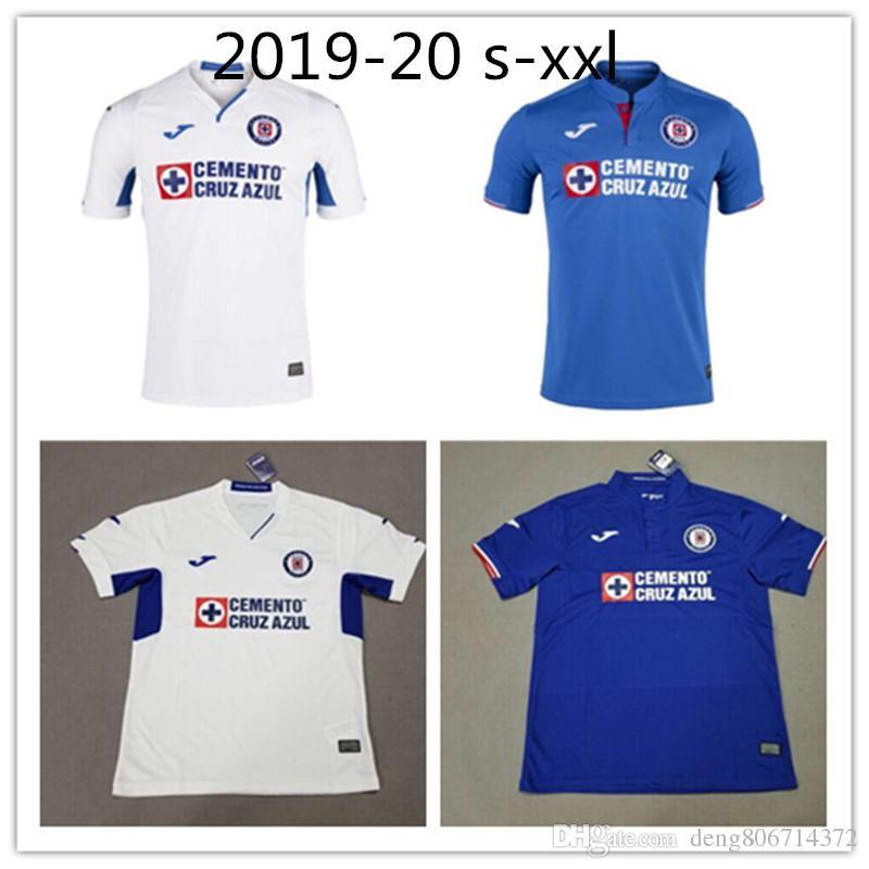 ffe3c149c7fc6 Perfect 2019 2020 Mexico Club Cruz Azul Liga MX Camisetas De Fútbol 19 20  Camisetas De Fútbol De Local Azul Visitante Blanco Camisetas De Futbol S  2XL Por ...