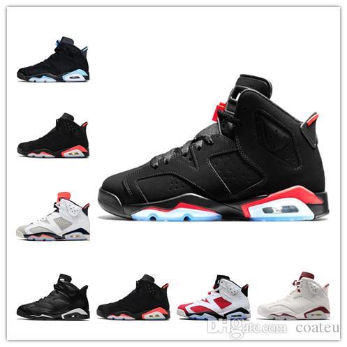 bba53d621061ba 2019 2019 Men Black Infrared 6 6s Basketball Shoes Mens CNY Carmine ...