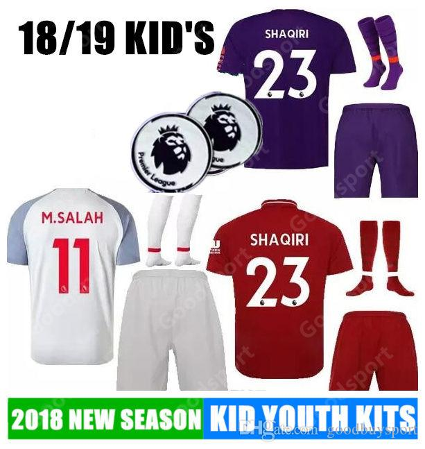014d9d8c3 KID 2019 M.SALAH Jersey Kits 18 19 GERRARD MANE FIRMINO VIRGIL ...