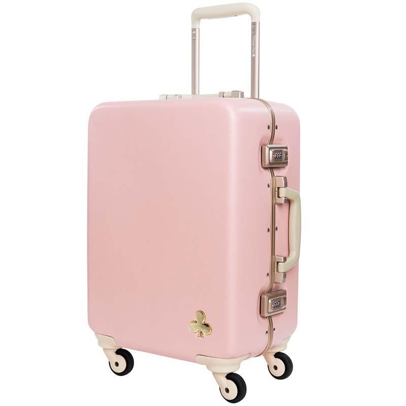 Gepäck & Taschen Klassische Retro Roll Gepäck Mit Kosmetik Tasche Für Frauen Reisen Tragen Auf Trolley Koffer Spinner Rad 20 22 24 26 Zoll Gepäck & Reisetaschen