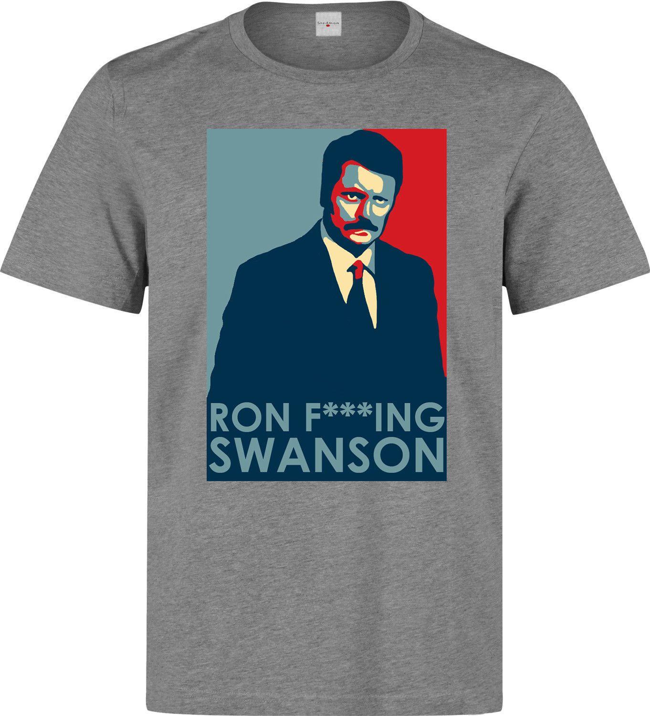 5b4fa4492d75 Ron Swanson President Parks And Recreation Tv Series Funny Men'S Grey T  Shirt Short Sleeve Plus Size T Shirt And T Shirt T Shirt Makes From  Qqq1510488977, ...