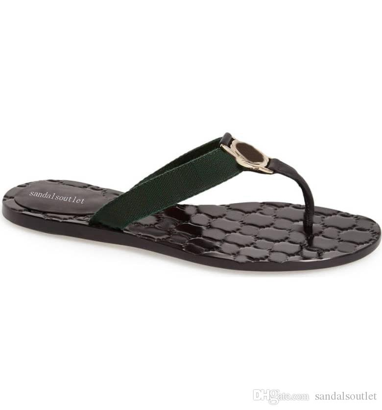 898ae6c8e Pre Fall 2018 Mens And Womens Fashion Web Leather Thong Sandals Slippers  Boys Girls Causal Flip Flops Slippers For Women Cheap Shoes For Women From  ...