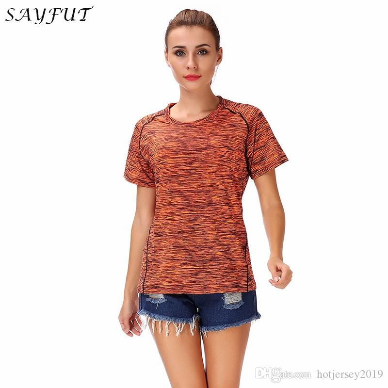 4a1f3adb2a8 Women s Essential Tee Shirt for Athletic Performance Moisture Wicking  Lightweight T Shirt Athletic Yoga Shirts Jogging Gym Top #271138