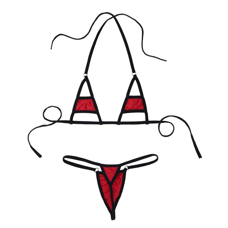Multi Cor Ver Através Mini Micro Biquíni Maiô das Mulheres Extrema Quente Sexy Lingerie Erótica Underwear Set Nightwear Trajes