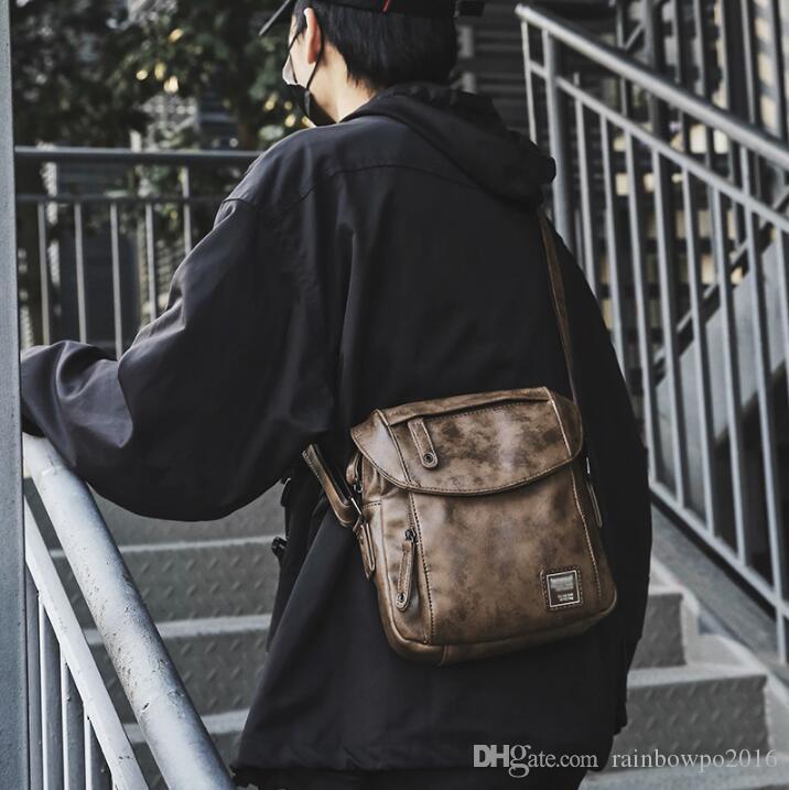 75a99cef108d Outlet Brand Men Handbag Japanese Vintage Leather Shoulder Bag ...