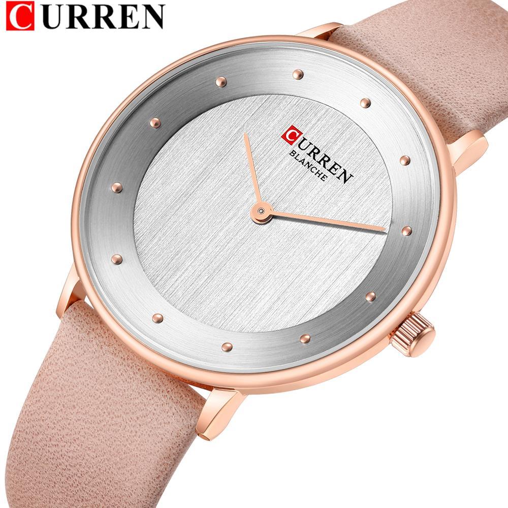 ac06521c717 CURREN Brand New Female Watch Fashion Simple Ladies Watches Design  Comfortable Leather Quartz Womens Wrist Watch Bayan Kol Saati Low Price  Watches ...